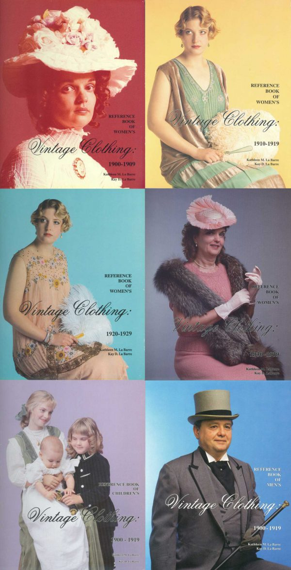 Vintage fashion books, early 1900s