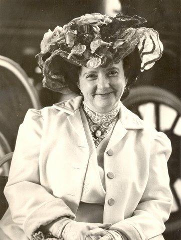 Kathleen LaBarre in her flowered hat